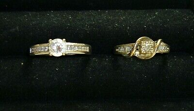 $ CDN19.02 • Buy Beautiful Vintage Sterling Silver 925 Sparkle Solitare Ring Lot Size 7 - 9