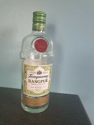 Empty Tanqueray Rangpur Gin Bottle 70cl Collectable Upcycling • 1.50£