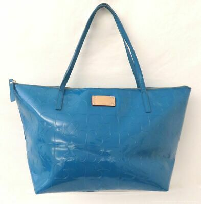 $ CDN12.67 • Buy Kate Spade Turquoise Embossed Patent Leather Tote Bag Purse