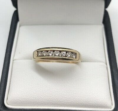 AU435 • Buy 9ct Yellow Gold 0.35ct 7 Diamond Band