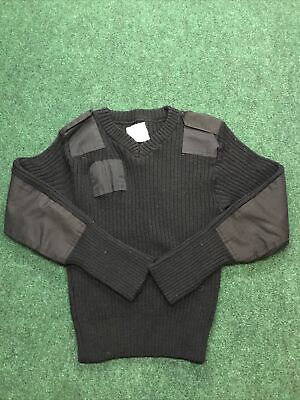 $27.89 • Buy Vintage Jack Young Associates Black 100%Wool Military Tactical Sweater Size 38
