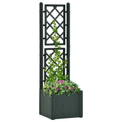 VidaXL Garden Raised Bed With Trellis And Self Watering System Green Planter • 67.99£