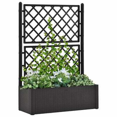 VidaXL Garden Raised Bed With Trellis And Self Watering System Anthracite • 118.99£