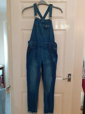Girls Denim Dungarees. Age 12/13 • 2.50£
