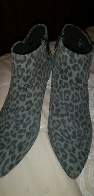 £23.99 • Buy Clarks Linvale Sea Grey Animal Print Ankle Boots Worn Once Size 6