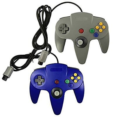 $ CDN25.10 • Buy Lot Of 2 N64 Game Gaming Pad Console Controllers For Nintendo 64 N64 Blue
