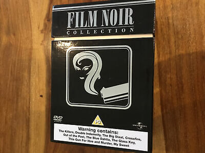 Film Noir Collection DVD 2007 9-Disc Box Set Classic Thrillers Major 1940s Stars • 14.90£