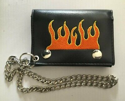 $ CDN14.68 • Buy Brand New Flame Wallet With Chain.  Must Have For Collection!