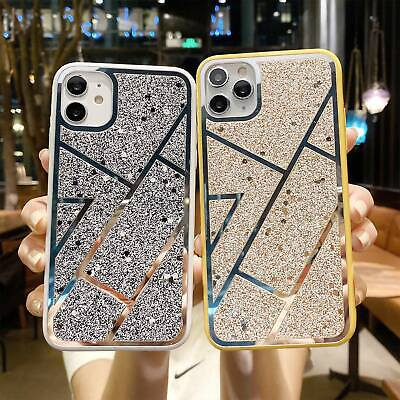 AU9.39 • Buy Bling Case For IPhone 12 Pro Max 11 XR XS Max 7 8 Glitter Bumper Hard Back Cover