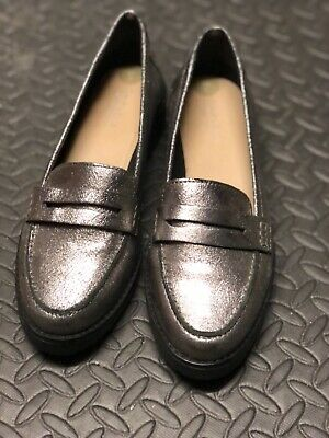 CARVELA Women's LEATHER PEWTER Loafer Shoes Size 6/39  • 16£