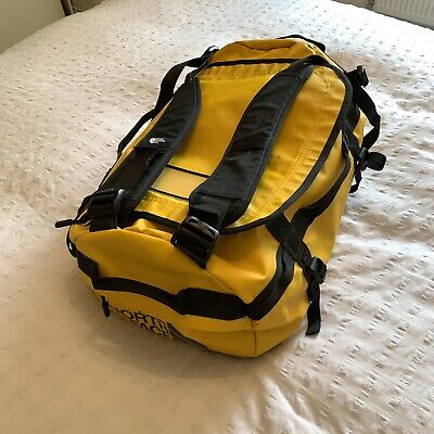 THE NORTH FACE Base Camp Duffel Bag Travel Suitcase 50L Small S Gold Yellow TNF • 60£