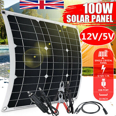 £35.52 • Buy 40W 12V Dual USB Flexible Solar Panel Battery Charger 50A Controller Boat Favor