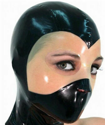 $35.99 • Buy Sexy Latex Mask Rubber Ninja Hood Masks For Unisex Catsuit Unique Party 0.4MM