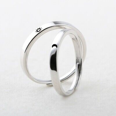 £5.99 • Buy 1 Pair Sun And Moon Lover Couple Rings Set For Him And Her Valentines Day Gifts