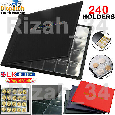 £3.74 • Buy 60-96-240 Coins Album Money Penny Pocket Book Wallet Collection Holders Storage