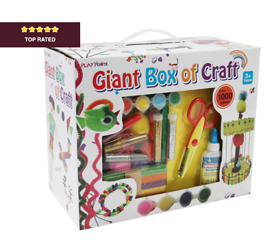 £11.99 • Buy 1000 Pieces Arts And Crafts Box Set Kit Kids Creative Toys Children Drawing NEW