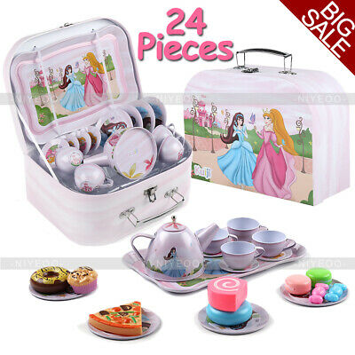 £16.42 • Buy Kids Girl Child Pretend Play Kitchen Cooking Toys Set Tea Cups Saucers Bowl Pot