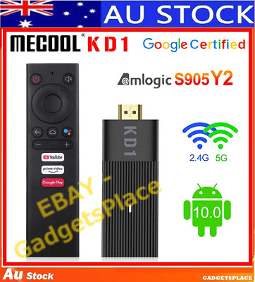 AU87 • Buy ✅AU STOCK MECOOL KD1 4K TV Stick Android TV 10 2GB/16GB S905Y2,Voice 5G WiFi Box