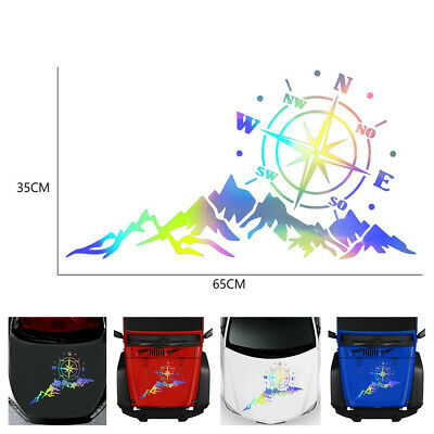 $12.50 • Buy 65x35cm Mountain Compass Graphics Colorful Decal Car Hood Body Side Door Sticker