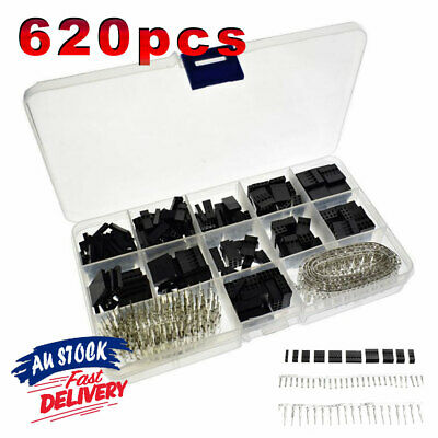 AU13.23 • Buy 620x Crimp Pin Jumper Pin Connector Header Housing Kit Female Male Dupont Wire