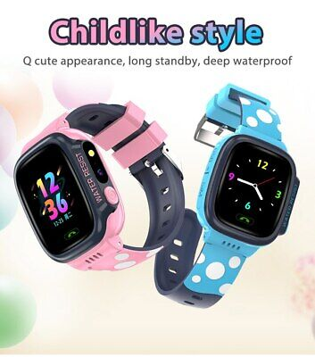 AU27.99 • Buy Kids Smart Watch Video Call WIFI 4G Full Netcom With SOS Button GPSIOS PINK/BLUE