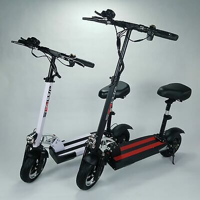 AU779 • Buy 2021 Foldable Electric Adult Scooter Daily Commute 500w 10.4Ah 48v With Seat Q8
