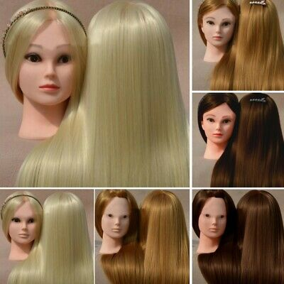 Salon Real Human Hair Training Head Hairdressing Styling Mannequin Doll + Clamp • 14.59£