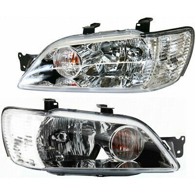 $235.39 • Buy Fits 2002 2003 Mitsubishi Lancer Pair Headlight Driver RH W/Chrome ; Ex Evo