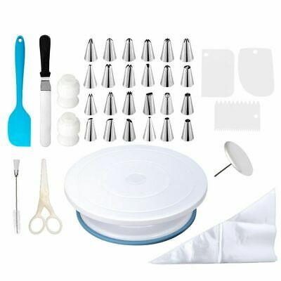 £24.07 • Buy 45pcs Cake Decorating Kit Supplies With Cake Turntable Piping Tips Pastry Bags