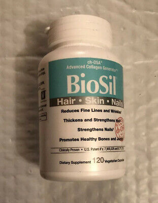 $34.98 • Buy BioSil CH-OSA Advanced Collagen Hair Skin Nails Natural Factors 120 Capsules Veg