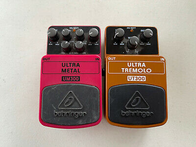 $ CDN124.07 • Buy Behringer UM300 Ultra Metal + UT300 Ultra Tremolo Guitar Effect Pedal Lot