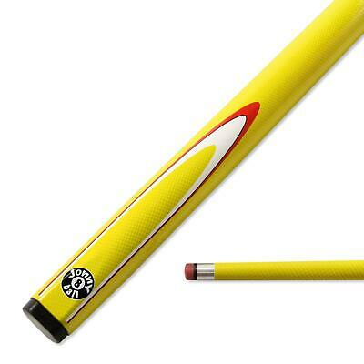 AU63.38 • Buy Jonny 8 Ball 57 Inch YELLOW INFERNO 2pc Graphite Pool Snooker Cue - 9mm Tip