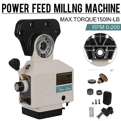 $115.10 • Buy Power Feed X-Axis 150 Lbs Torque For Bridgeport Type Milling Machines 0-200 RPM