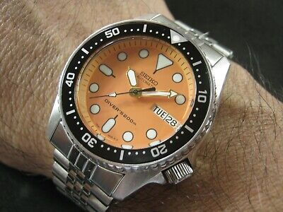 $ CDN382.23 • Buy SEIKO SKX013 Mod Orange Upgrade NH36 Water Proof Tested Jr. Size A1 Condition