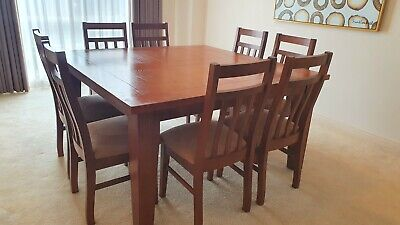 AU500 • Buy Solid Wood Dining Table And 8 Chairs