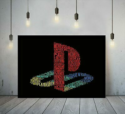 Playstation Gaming Canvas Printed Wall Art Gamer Print Deep Box Framed Picture • 17.99£