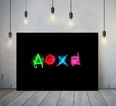 Playstation X-Box Gaming Symbol Canvas Printed Wall Art Gamer Print Deep Framed • 17.99£