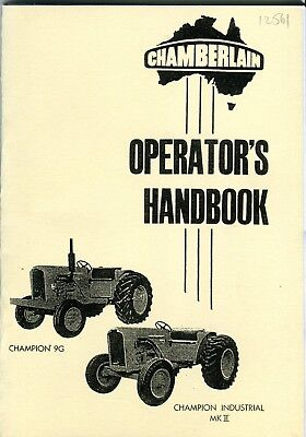 AU15.50 • Buy Chamberlain Champion 9G Champion Ind. Mk II Operators Manual Jul. 1960