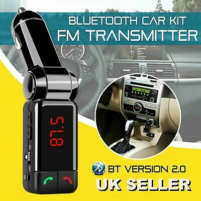 £7.28 • Buy Wireless Bluetooth Car FM Transmitter MP3 Player, USB Charger Handsfree Kit