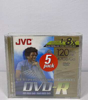 £8.05 • Buy JVC Recordable DVD+R Blank DVD-R 5 Pack New Sealed