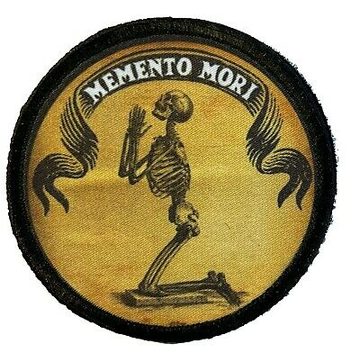 $7.99 • Buy Memento Mori Prayer  Morale Patch Tactical Military Army Badge Hook Flag