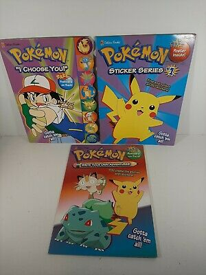 $14 • Buy Lot Of 3 Pokemon Activity Books I Choose You Stickers #1 & Write Your Own...