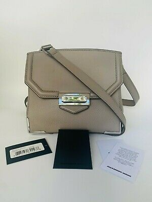 AU260 • Buy ALEXANDER WANG Marion Prisma Small Crossbody Bag Oyster/Grey Leather (Authentic)