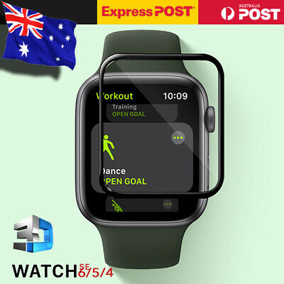 AU5.99 • Buy For Apple Watch 6 5 4 3 38/42/40/44mm Screen Protector Tempered Glass Full Cover
