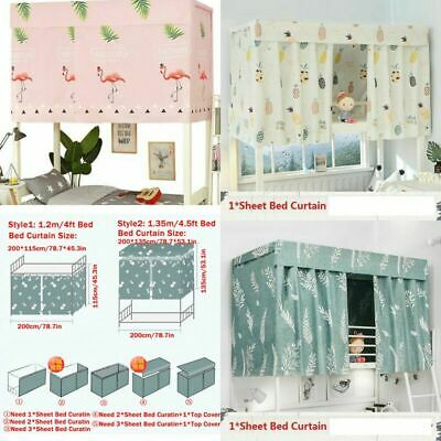 Cabin Bunk Bed Tent Curtain Cloth Dormitory Mid-sleeper Bed Canopy Spread Screen • 7.39£
