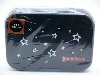 AU20.32 • Buy YUMBOX Leakproof Bento Lunch Box Container Navy Blue STAR POWER Brand New SEALED