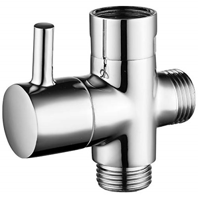 $19.09 • Buy CIENCIA G1/2  Bathroom Angle Valve For Solid Brass 3-Way Shower Arm Diverter For