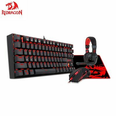 AU87.54 • Buy Mechanical Gaming Keyboard Mouse And Mouse Pad  Gaming Headset With Microphone