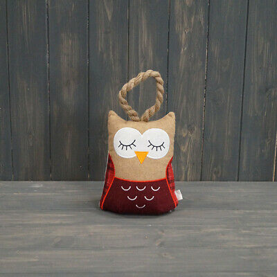 £14.99 • Buy Satchville Owl Door Stop Stopper Wedge Fabric Novelty Filled Heavy Weighted
