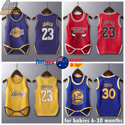 AU21.99 • Buy Baby Basketball Jersey Infant Romper Jumpsuit Jersey Hoops AUS Stock